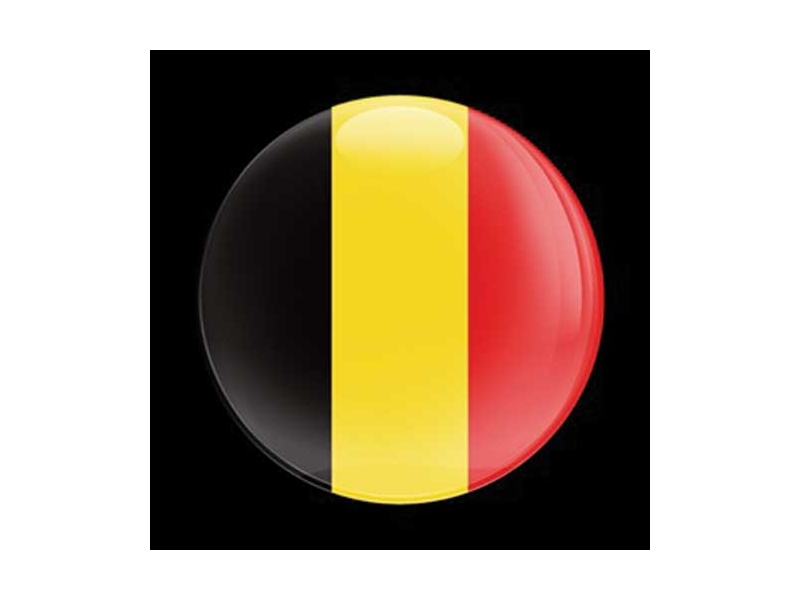 Dome Style 3 Inch Magnetic Badge - Flag Belgium