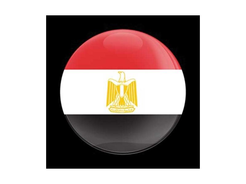 Dome Style 3 Inch Magnetic Badge - Flag Egypt