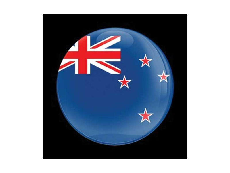 Dome Style 3 Inch Magnetic Badge - Flag New Zealand