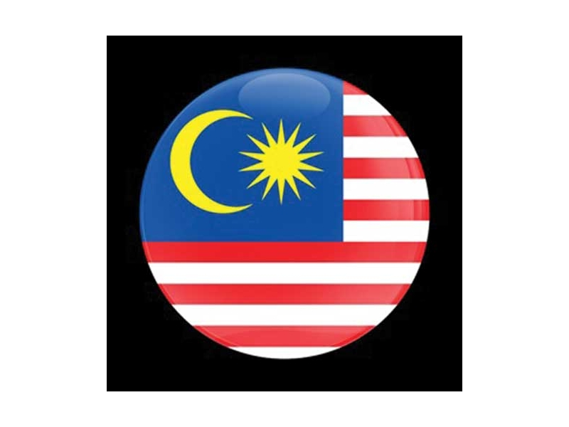 Dome Style 3 Inch Magnetic Badge - Flag Malaysia