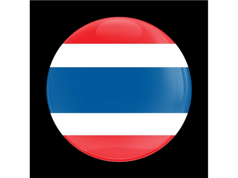 Dome Style 3 Inch Magnetic Badge - Flag Thailand
