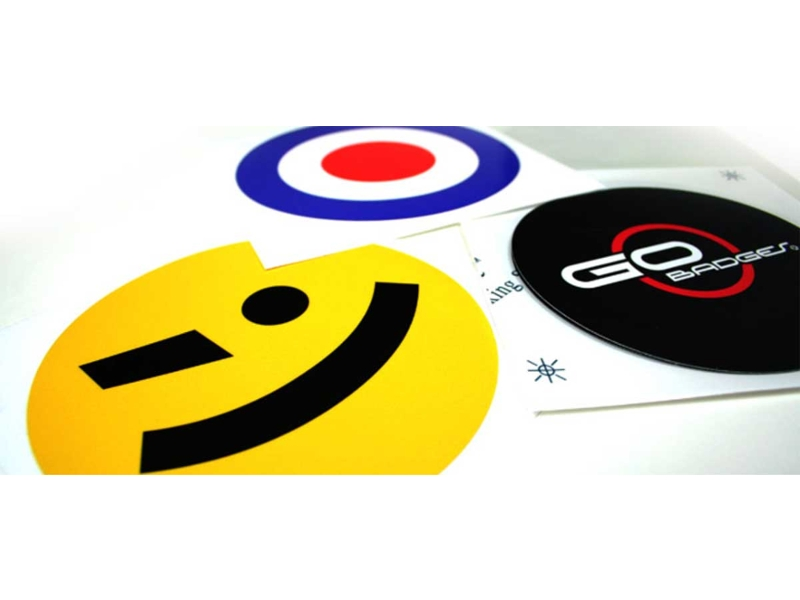 Round Gographic 4.25 Dia Vinyl Badge Each - Ciao