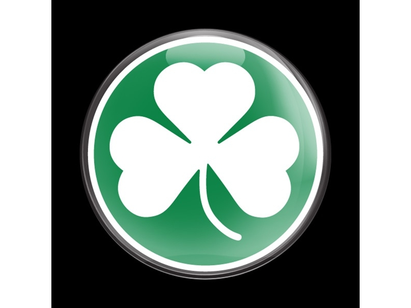 Dome Style 3 Inch Magnetic Badge - Shamrock