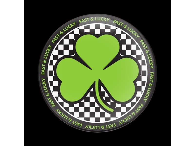 Dome Style 3 Inch Magnetic Badge - Mini Shamrock