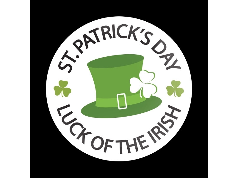 Dome Style 3 Inch Magnetic Badge - Luck Of The Irish