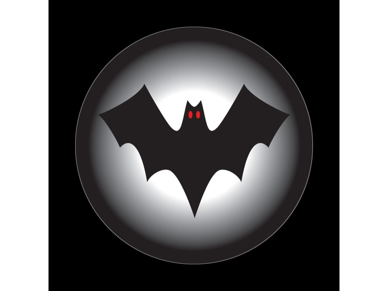 Dome Style 3 Inch Magnetic Badge - Halloween Bat