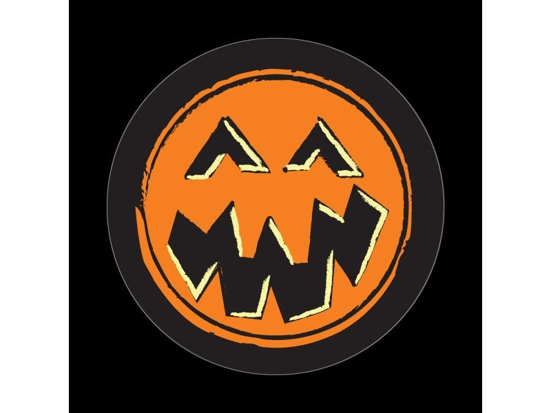 Dome Style 3 Inch Magnetic Badge - Halloween Pumpkin