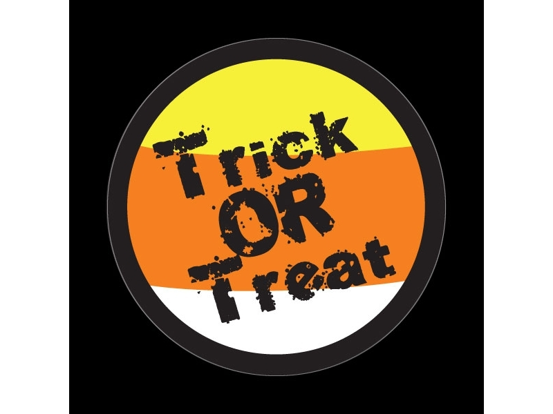 Dome Style 3 Inch Magnetic Badge - Halloween Trick Or Treat