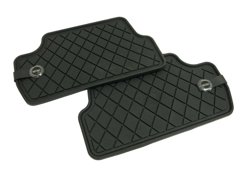 Mini Cooper Floor Mats All Weather Rear Black Oem