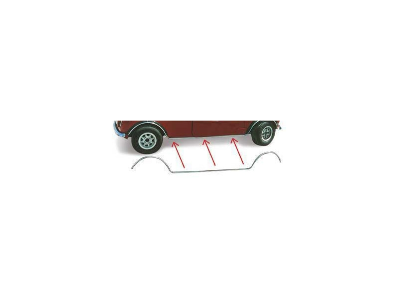 Chrome Body Side Seam Trim Lower Plain _mini & Mini Cooper S