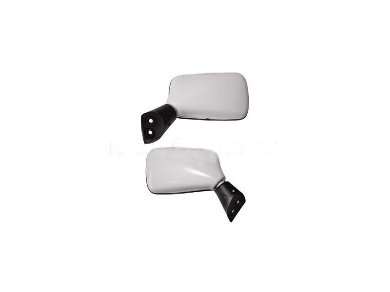 White Back Door Mirror Pair For Late Model Mini Cooper