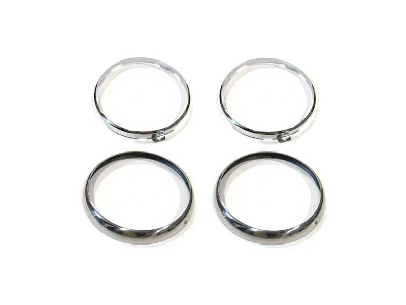 Headlight Headlamp Chrome Ring Kit Per Car Mini Cooper,sprite,morris