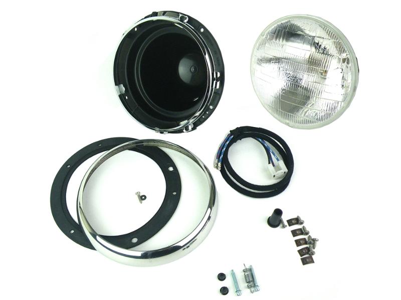 Classic Mini Headlamp Headlight Assembly With Plastic Bucket