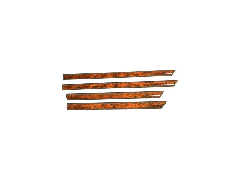 Door Capping Burl Walnut Set Of 4 Roll Up Window