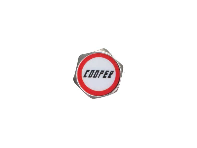 Austin Mini Valve Stem Caps 'cooper' (set Of 4)