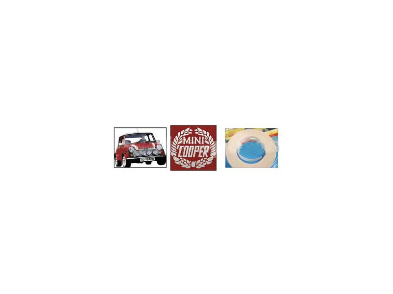 Classic Austin Mini White Decals Sport Pack Decal Kit