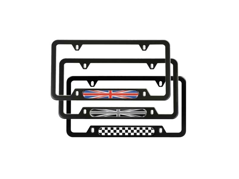 License Plate Frame Black With Patterns