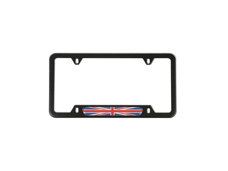 License Plate Frame Black With Union Jack