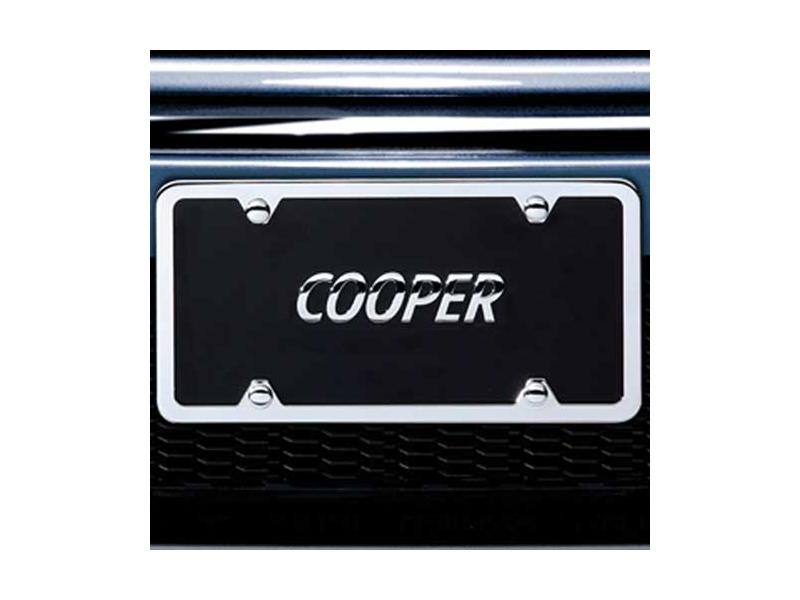 mini cooper license marque 39 cooper 39 oem. Black Bedroom Furniture Sets. Home Design Ideas