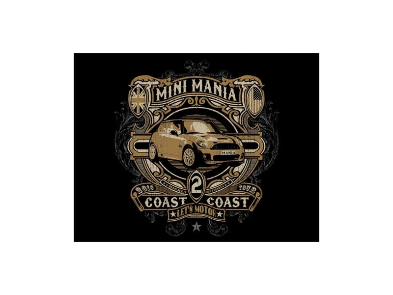 Hooded Sweatshirt Coast-2-coast Blk Xxl - Mini Cooper & S