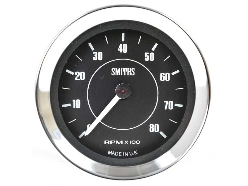Tachometer Smiths 52mm Black Face