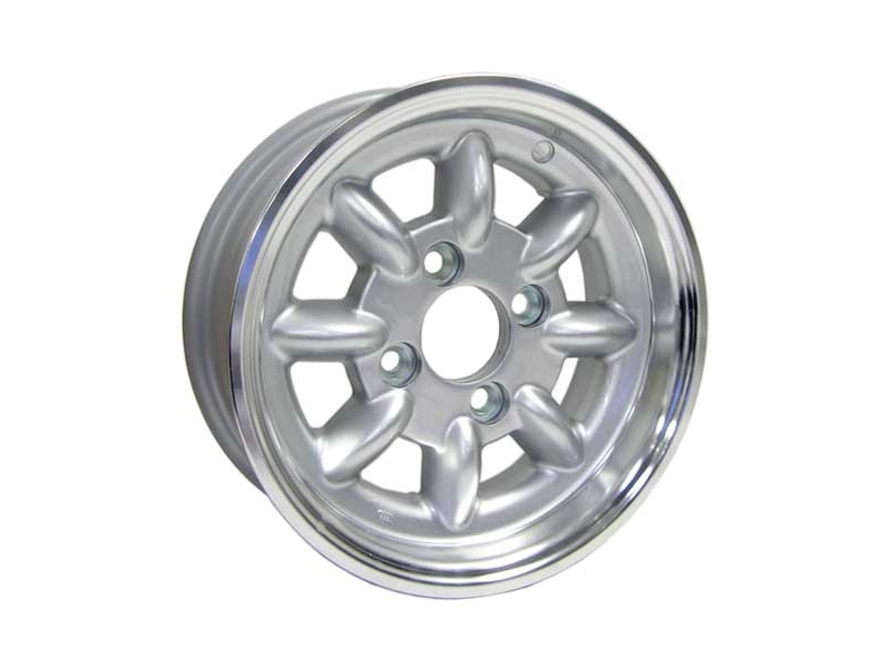 5x12 Mini Cooper Mws Minilight Wheel- Silver (w/lugs, Cap)