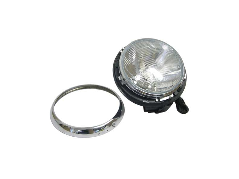 Austin Mini headlamp chrome ring original style
