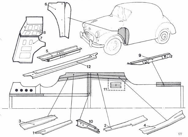 Classic Morris Minor L//H /& R//H 4Dr Rear Outer Door Repair Panel  UK Made By Us