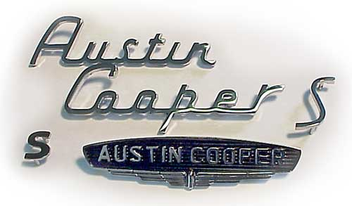 Classic Mini MK1 cooper S badge set front and rear